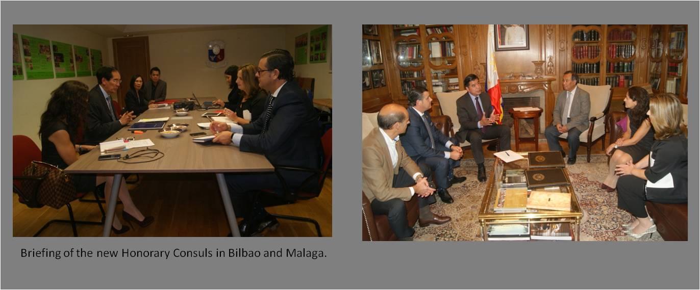 Ambassador Salinas Swears In New Phl Honorary Consuls For Bilbao And Malaga