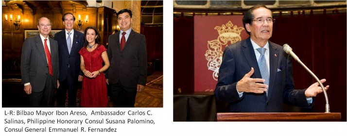AMBASSADOR SALINAS GRACES OPENING OF PH CONSULATE  IN BILBAO; CALLS ON BASQUE PRESIDENT