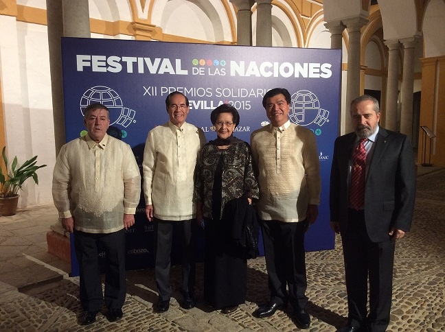 Ambassador Salinas with Madame Isabelita Salinas, Honorary  Consul General Bidon, and Consul General Emmanuel R Fernandez