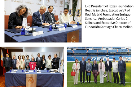 Roxas Foundation and Real Madrid Foundation Signed an Agreement