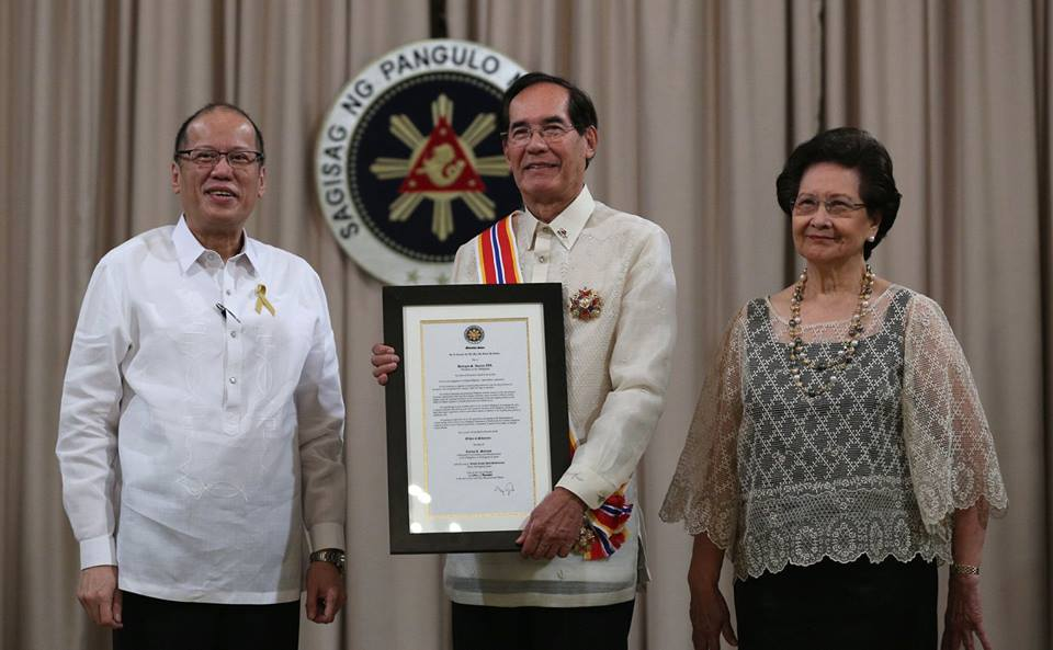President Benigno S. Aquino, III, Ambassador Carlos C. Salinas and Mrs. Isabelita T. Salinas.