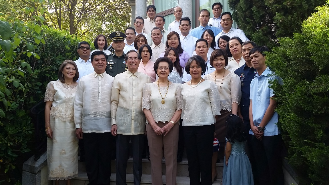 Philippine Embassy in Madrid officers and staff.