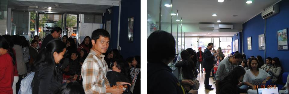 (Photos L to R) Consul General Emmanuel R. Fernandez responding to questions from the crowd. Consul General Fernandez officially declared the registration closed at 5:00 PM on October 31.
