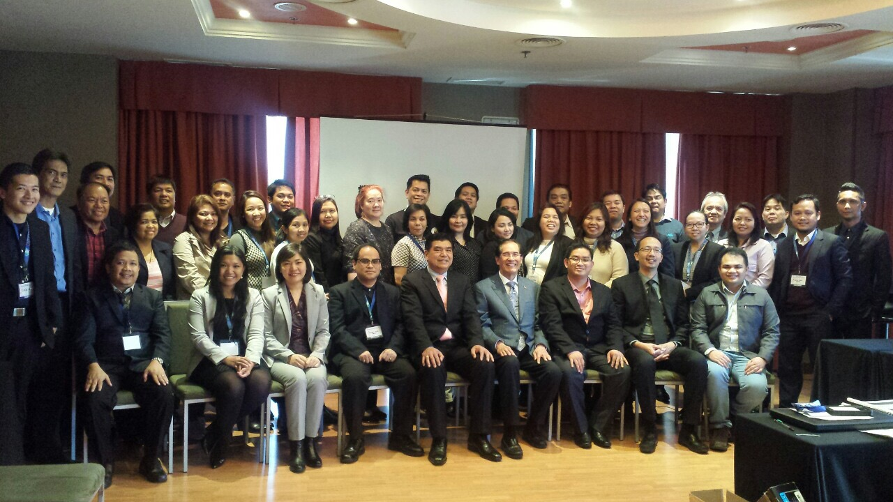 Ambassador Carlos C. Salinas and Consul General Emmanuel R. Fernandez, together with the participants and trainers, pose after the training