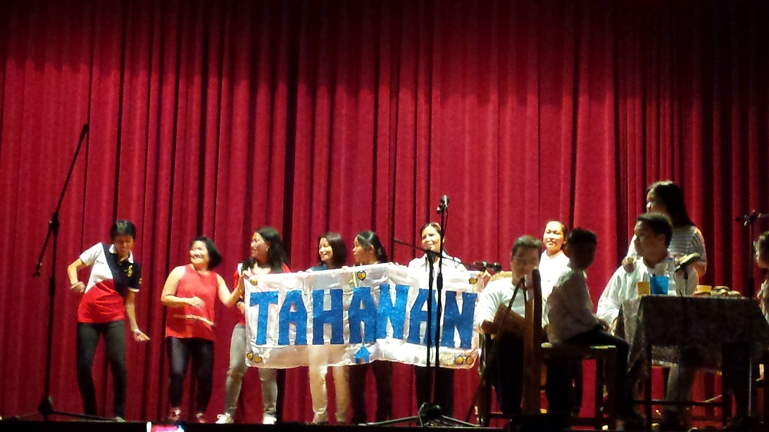 A performance by a Filipino community association.