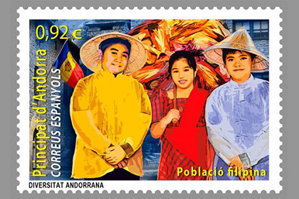 Andorra Issues Stamps In Honor of the Filipino Population in the Country