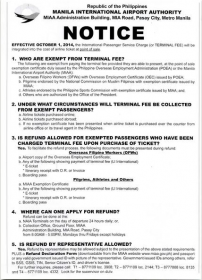 terminal fee notice