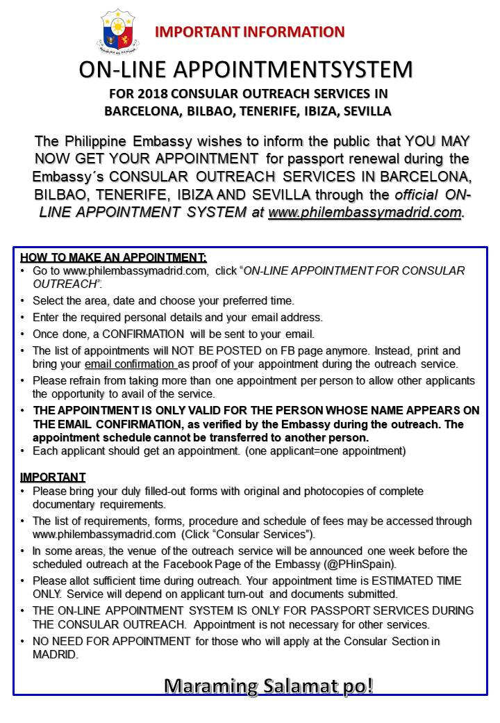 Online Appointment for Consular Outreach Services Now Available in