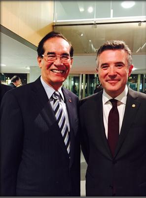 Ambassador Carlos C. Salinas with Mr. Vicenç Mateu Zamora, President of the Andorran Parliament