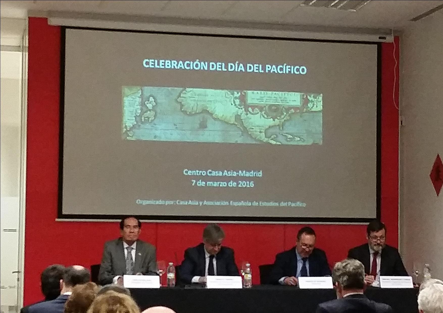 L-R: Amb. Carlos Salinas; Sec. of State for Foreign Affairs Ignacio Ybañez; Casa Asia Dir. Gen. Ramon María Moreno; Instituto Cervantes Sec. Gen. Rafael Rodríguez-Ponga.