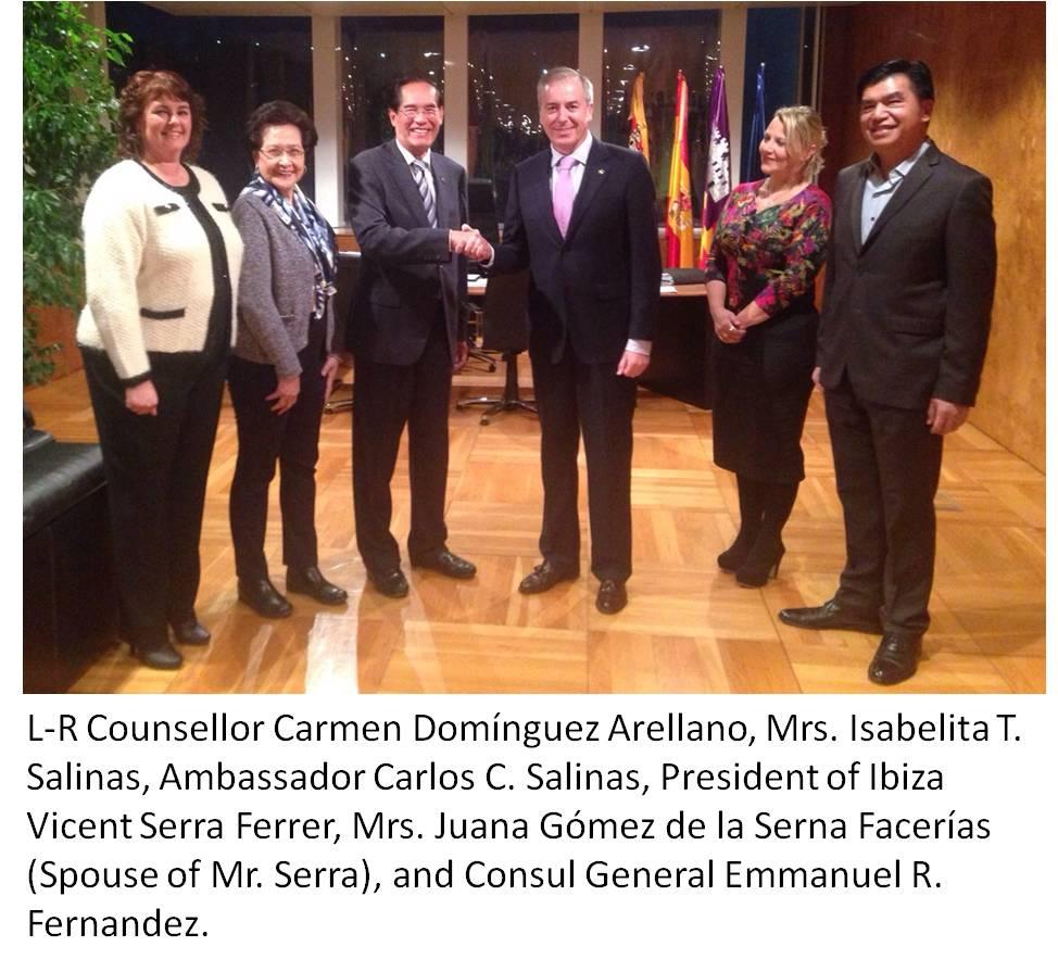 Ambassador Salinas Meets Ibiza President, Graces Ambassador's Cup