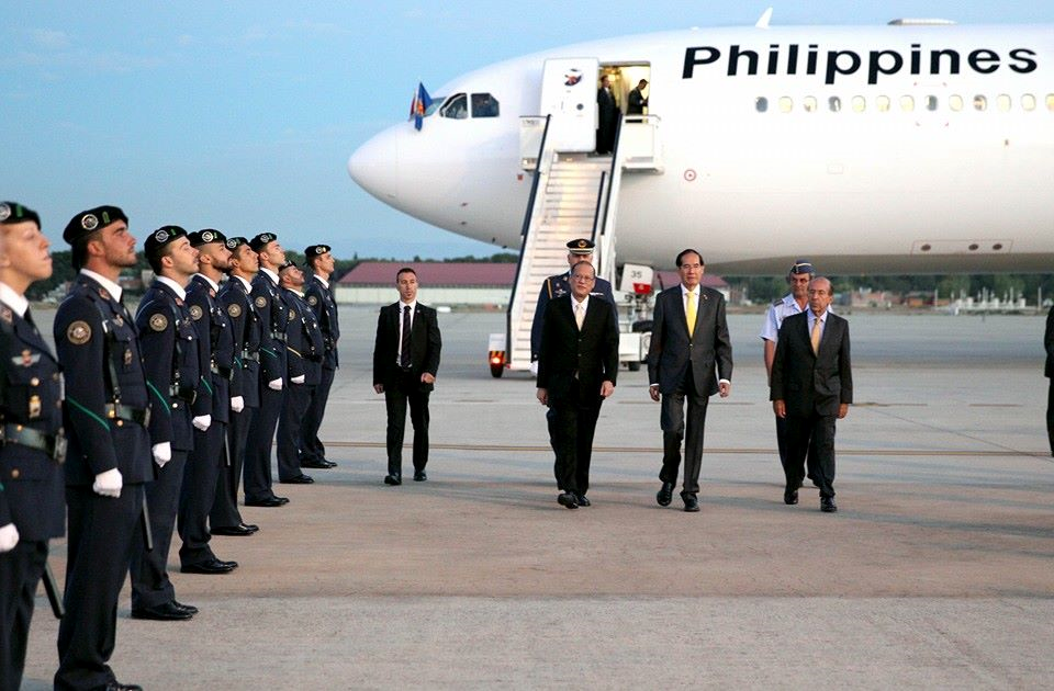 President Aquino Begins Europe-U.S. Tour