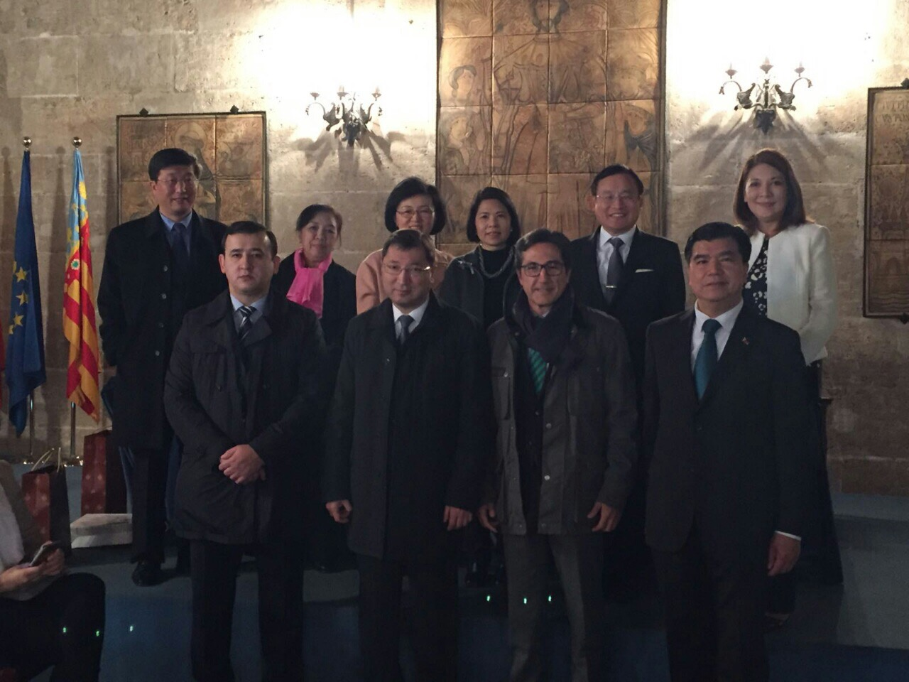 The ASPAC Group at the Valencia City Hall, together with Mr. Jose María Chiquillo (Deputy for Valencia).