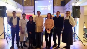 Amb. Salinas with the organizers and participating chefs at the Madrid Fusion Manila 2016.