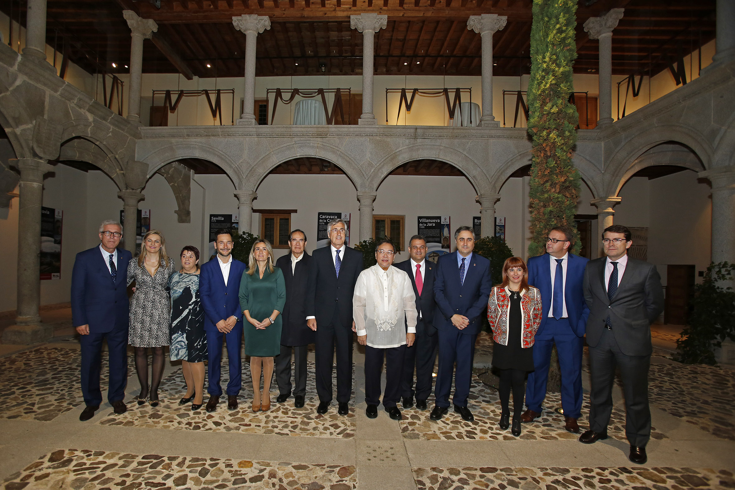 Ambassador Carlos C. Salinas and DOT Secretary Ramon R. Jimenez, Jr. with Mayors of the Association of UNESCO World Heritage Cities of Spain